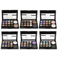 14 Colors Professional Glitter Eyeshadow Palette Case Blush Eye Shadows Make Up Tools