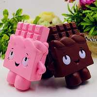 PU Simulation Of Chocolate Human Toy Squishy - Pressure Relief Toys Random Color