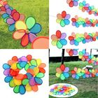 Buy at Best Price 8pcs Rainbow Flower Windmill Garden Wind Spinner Festival Outdoor Camping Decor