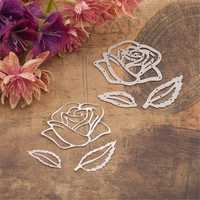 Rose Flower Cutting Dies Scrapbooking Album DIY Embossing Decor Paper Card Craft