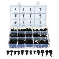 240pcs Car Repair Clip Rivets Screws Push Fastener Nylon Assortment Kit
