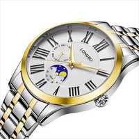 LONGBO 5013 Fashion Calendar Full Steel Quartz Watches