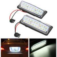 Pair LED Car License Plate Lights 12V White for Nissan J31 Maxima J32 Cefiro Murano
