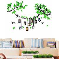 3D Acrylic Wall Decal Sticker Tree Photo Picture Frame Living Room Home Decor
