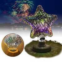 E27 3W 3D Star Flat Diamond Fireworks LED Decorative Light Bulb for Party Christmas AC220V