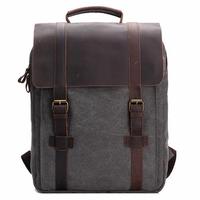 Vintage Canvas 15 inch Laptop Bag Backpack Men Women