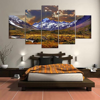 5 Cascade Lateau And Dusk Canvas Wall Painting Picture Home Decoration Without Frame Including Ins
