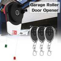Saws 110V 600N Auto Garage Roller Door Opener Motor 3 Remote Controls 16.5m²