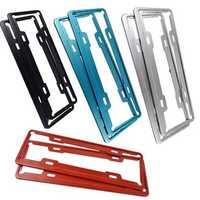 Car Stainless Steel License Plate Frame Aircraft Aluminum License Plate Frame Vehicle Administration