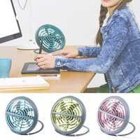 Outdoor Mini Desk Fan USB Powered Portable Table Home Small Quiet Air Cooler