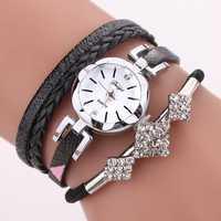 DUOYA D255 Flower Dial Show Fashionable Women Bracelet Watch