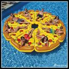 Acheter au meilleur prix Water Fun Sports Beach Toy Inflatable Float Pizza Riding Swimming Ring Buoyancy Board PVC For Kids Adult