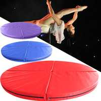 47x3.9inch 4 Folding Pole Dance Safety Mat Gym Exercise Fitness Yoga Floor Pad
