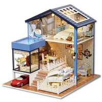 DIY Dollhouse Miniature Kit Doll House With Furniture Gift Craft Toy