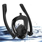 Meilleurs prix Outdoor Antifog Full Face Scuba Snorkel Diving Mask Double Tube Swim Goggles With Gopro Camera Holder