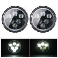2pcs H4 H13 7inch 60W 6500K IP67 Hi/Lo Beam LED Headlights For Jeep Wrangler JK TJ LJ CJ