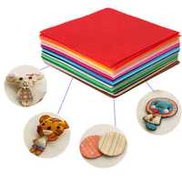 43pcs 15x15cm Colorful Non Woven Sewing Fabric Dolls Purse Handwork DIY Patchwork Cloths