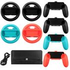 Discount pas cher 10 in 1 Charging Stand Controller Grip Holder Steering Wheel For Nintendo Switch
