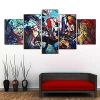 5Pcs Modern Abstract Colorful Canvas Print Paintings Home Wall Art Decor Unframed