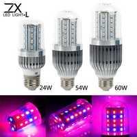 ZX 360 Degree 28W 54W 60W E27 LED Plant Grow Lamp Bulb Garden Greenhouse Plant Seedling Light