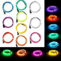 1M EL Led Flexible Soft Tube Wire Neon Glow Car Rope Strip Light Xmas Decor DC 12V