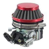 Carb Carburetor with Air Filter Red For 49cc 50cc 60cc 66cc 80cc 2-Stroke Motorized Bike