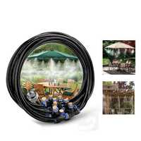 23M Outdoor Cool Patio Misting System Fan Water Misting Garden Sprinkler Spray