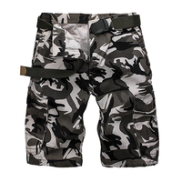Hunting Summer Mens Cotton Multi Pockets Solid Breathable Loose Casual Shorts