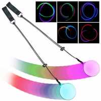 5PCS Pro LED Multicolored Glow POI Thrown Balls Light Up For Belly Dance Hand Props