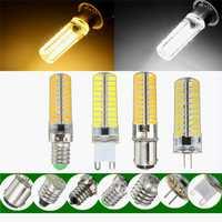 Dimmable E11 E12 E14 E17 G4 G9 BA15D 2.5W LED Corn Bulbs Warm Pure White Silicone Light Bulb AC110V