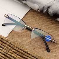 Women Round Rimless Reader Reading Glasses