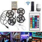 Prix de gros 4PCS 5M Non-waterproof SMD2835 RGB Alexa APP Home Wifi Control Smart LED Strip Light Kit AC110-240V