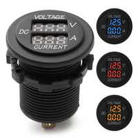DC 12V 24V Car Voltmeter Ammeter LED Display Digital Voltage Meter