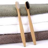4pcs Eco Friendly Bamboo Charcoal Soft Fine Bristles Bamboo Handle Manual Toothvrushs for Adult