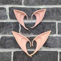 Mysterious Angel Elf Ears fairy Cosplay Accessories LARP Halloween Party Latex Soft Pointed Prosthetic False ears