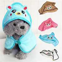 Absorbent Towel Pet Dog Cat Cute Bear Design Nightgown Bathrobe Pajamas Puppy Bath Warm Blanket