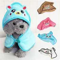 Absorbent Towel Pet Dog Cat Cute Bear Design Nightgown Bathrobe Pajamas Puppy Bath Warm Blanket