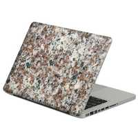 Removable Colorful Marble Pattern Self-adhesive Front &Black Skin Sticker For Macbook 13 Inch