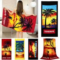 70x150cm Coconut Trees Amorous Feelings Quick Dry Beach Towels Absorbent Microfiber Bath Towel