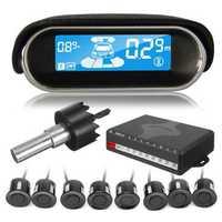 Car Parking Sensor Dual-core Rear/Front LCD Display 8 Reverse Backup Radar