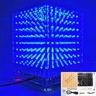 Bon prix 3D Light Cube Kit 8x8x8 Blue LED MP3 Music Spectrum DIY Electronic Kit
