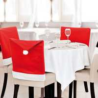 Christmas Snowflake Decals Chair Cover Kitchen Dinner Seat Back Home Party Decoration