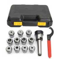 11pcs 1/8-3/4 Inch Collects Set With MT3 1/2 Shank Chuck And Spanner For Milling Machine