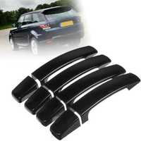 8X ABS Gloss Black Door Handle Cover Trim for Range Rover Sport Discovery 3 Freelander 2 2005-2009