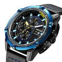 MEGIR 2062 Men Watch Sport Creative Chronograph Luminous Male Quartz Wrist Watch