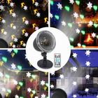 Offres Flash 4 LED Projection Stage Light Outdoor Christmas Mini Snowflake Lamp with Remote Control for Party Festival