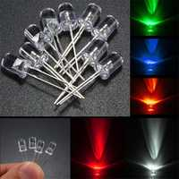 50Pcs 5mm Round Red Green Blue Yellow White Water Clear Diffused LED Light Diode Lamp