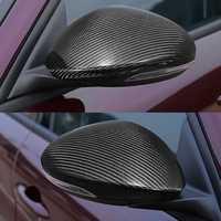 Pair Carbon Fiber Side Mirror Cover Cap for Alfa Romeo Giulia Quadrifoglio 17-18
