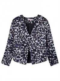 Women Plus Size Long Sleeve Leopard Jacket Coat Suit