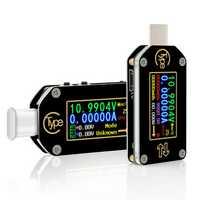 RIDEN® TC66/TC66C Type-C PD Trigger USB Voltage Ammeter Capacity Meter 2 Way Measurement Charger Battery APP PC USB Tester